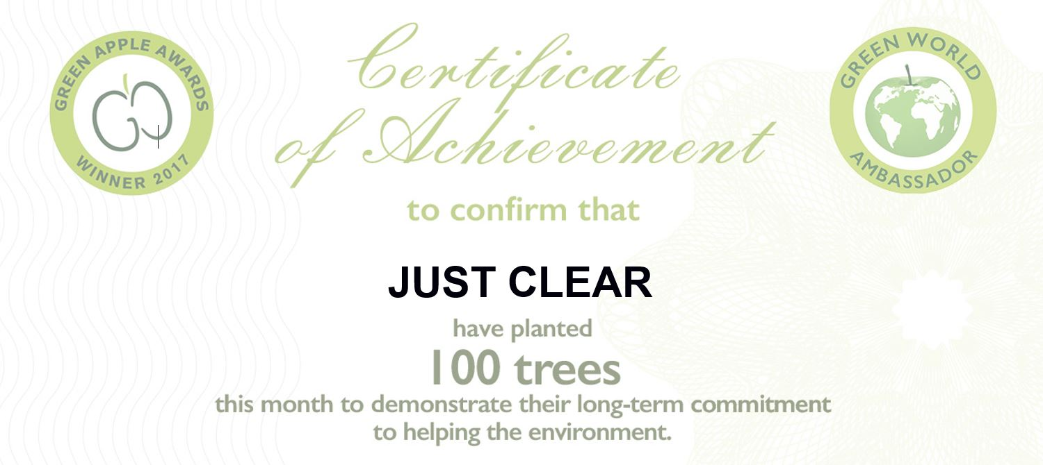 just clear have planted 100 trees