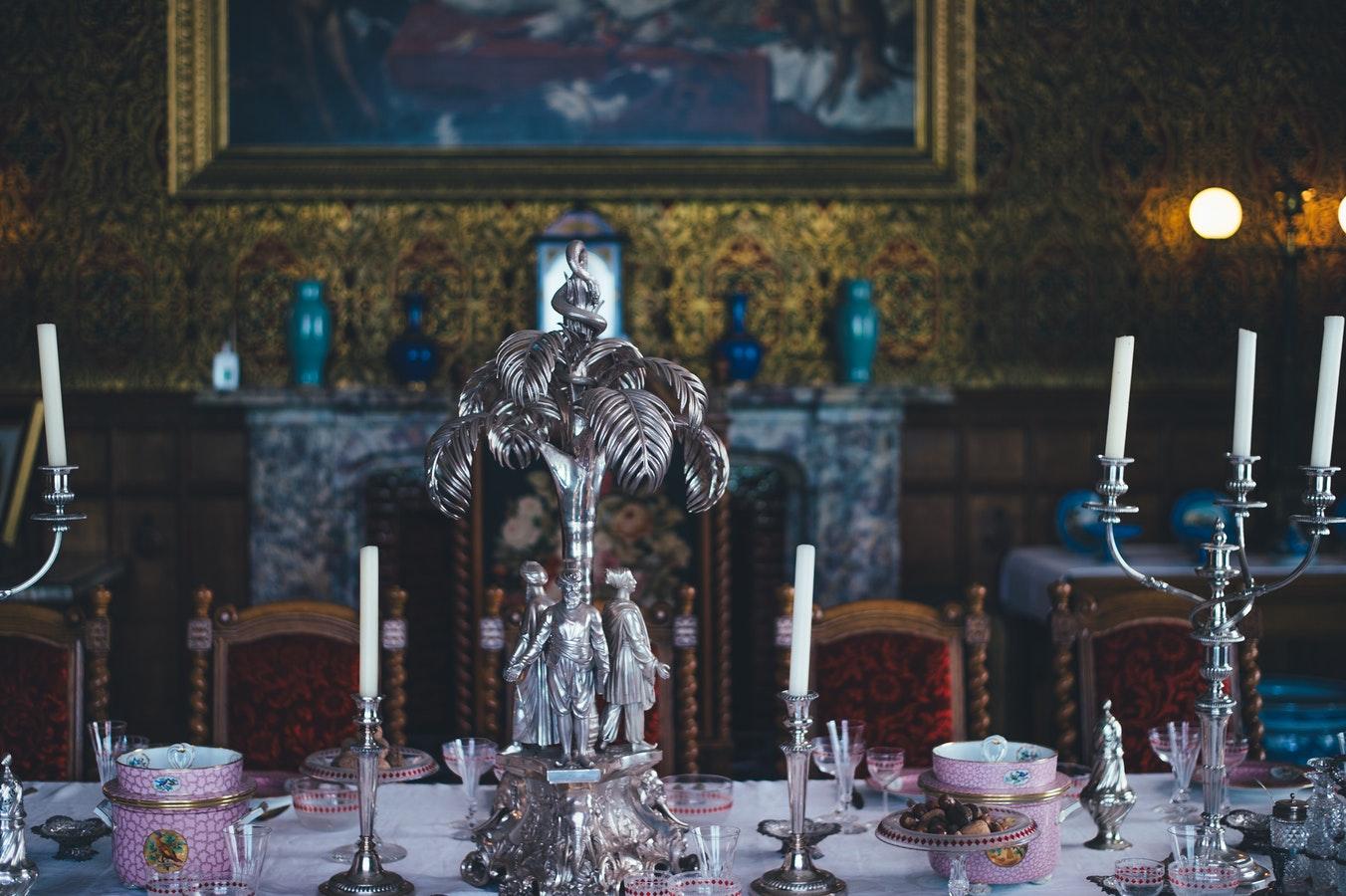 inheritance, silver candle holder