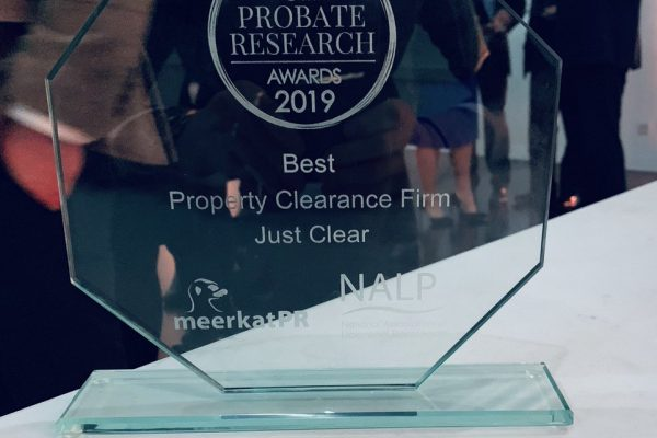the uk probate research awards, best property clearance firm