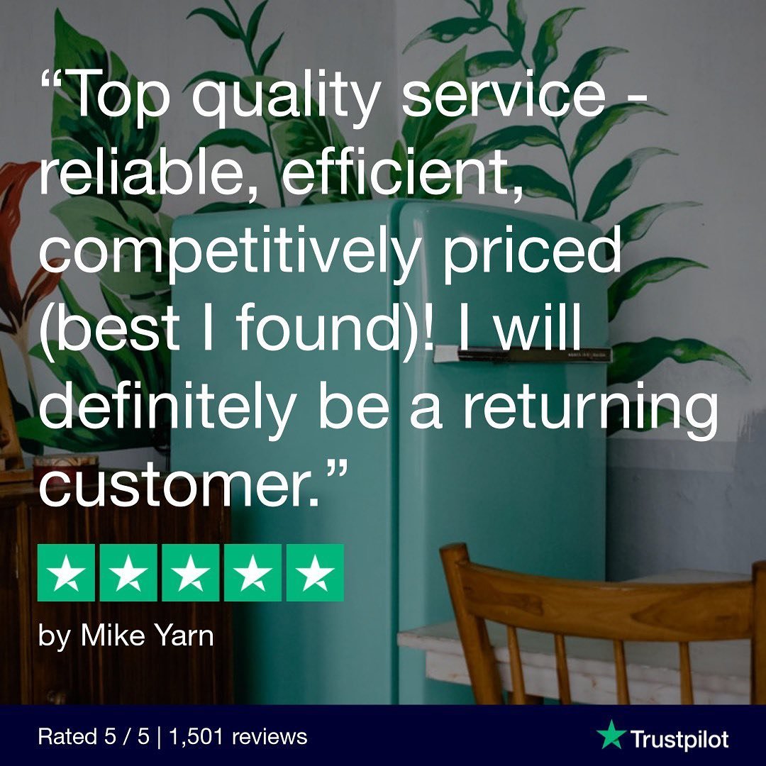 quote that reads 'top quality service- reliable, efficient, competitively priced (best I found!) I will definitely be a returning customer