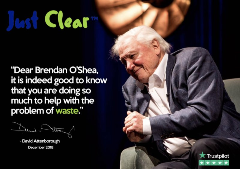 """quote reads """"Dear Brendan it is good to know that you are doing so much to help with the problem of waste"""""""